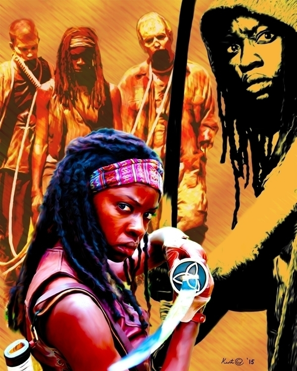 walkingdead, thewalkingdead, michonne - kurtg_art | ello