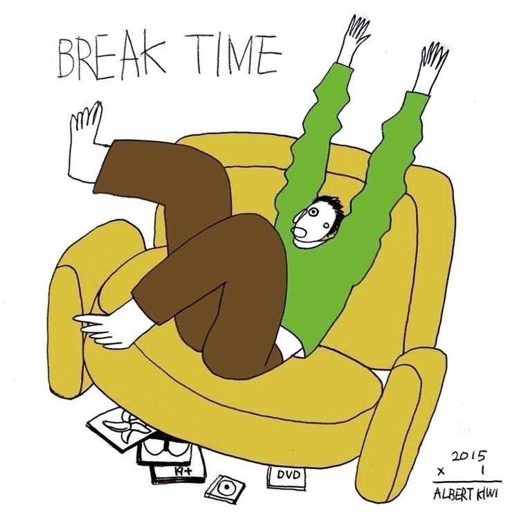 Break time - illustration, art, artist - albertkiwi | ello