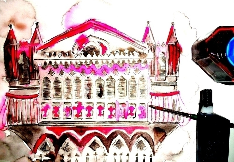 illustration, painting, architecture - randa-6383 | ello