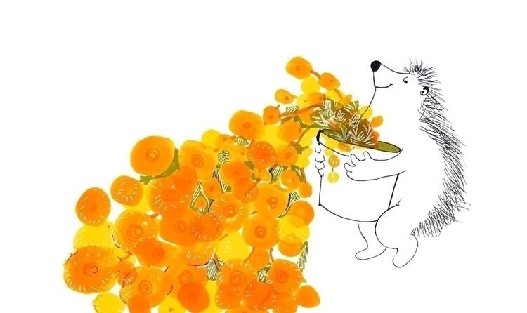 Hedgehog - kidlitart, illustration - patriciadecos | ello