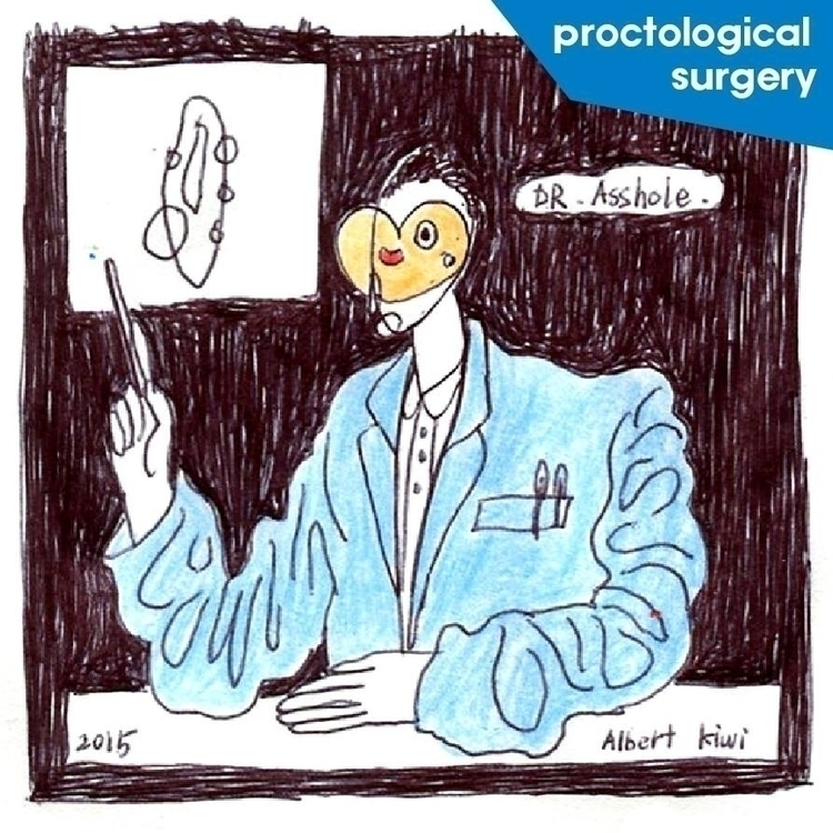 proctological surgery - illustration - albertkiwi   ello