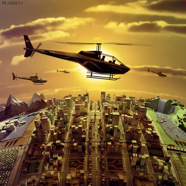 3d, 3dart, lowpoly, city, aerialview - plashtv | ello