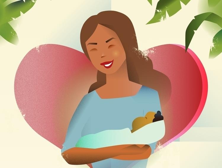 Day illustration - mother, child - emetzger | ello