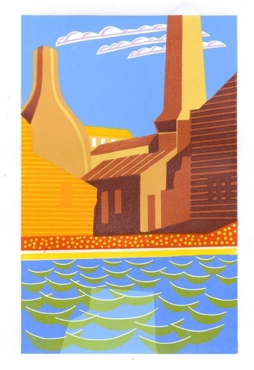MIDDLEPORT small reduction lino - ericgaskell | ello