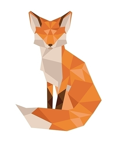 Lowpoly fox, logo Northridge In - nahamut | ello