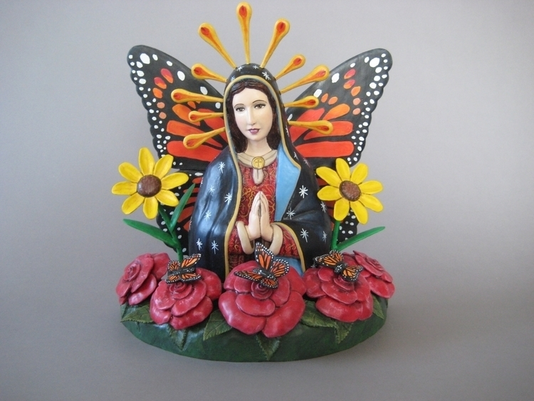 Maria-Posa 12x11x6 - wood, sculpture - artlopez-1086 | ello