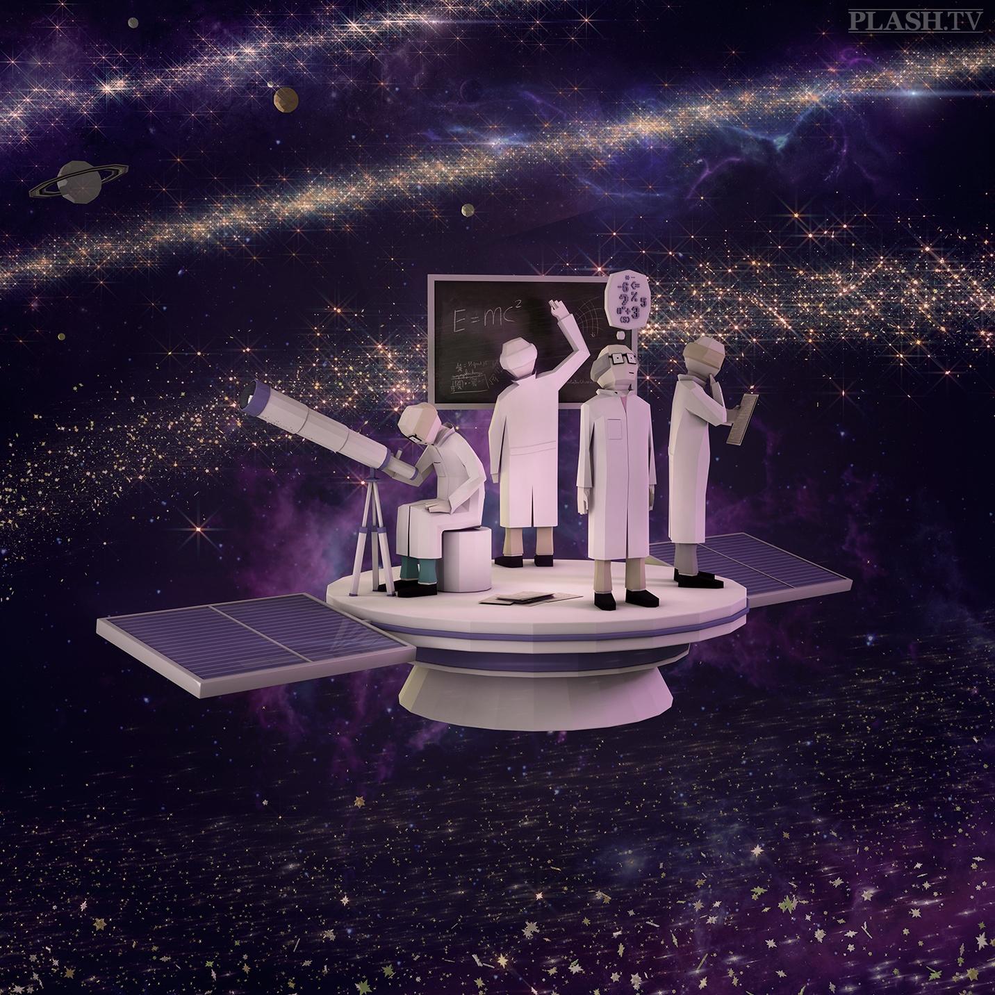 3d, 3dart, space, satellite, science - plashtv | ello
