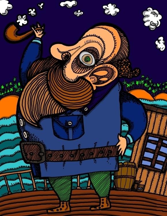 Captain - illustration, painting - alexaldana-9980 | ello
