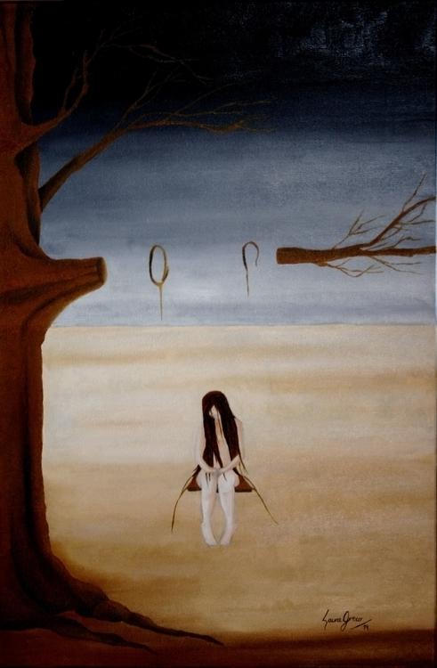 Patience - Oil canvas 40 60 cm - lauragreco | ello