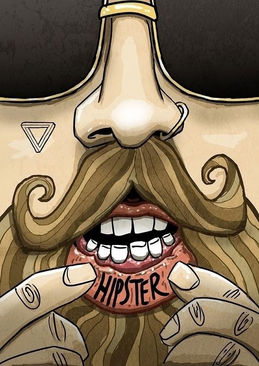 Hipster Lips - illustration - designidge | ello
