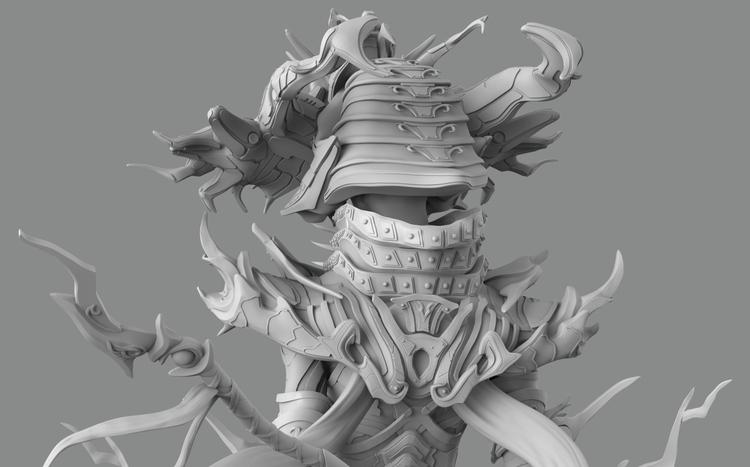 samuraihelmet, zbrush, keyshot - jakeburstein | ello