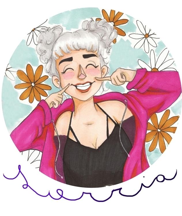 Smile/2017 - illustration, painting - gabrielamolinaro | ello