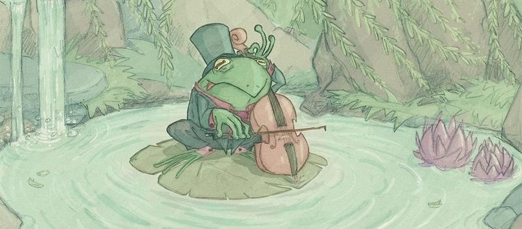 cello, frog, pond - camotron | ello