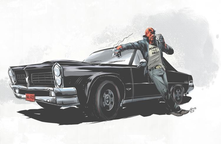 Demon resting Pontiac GTO. Crea - universek-1349 | ello