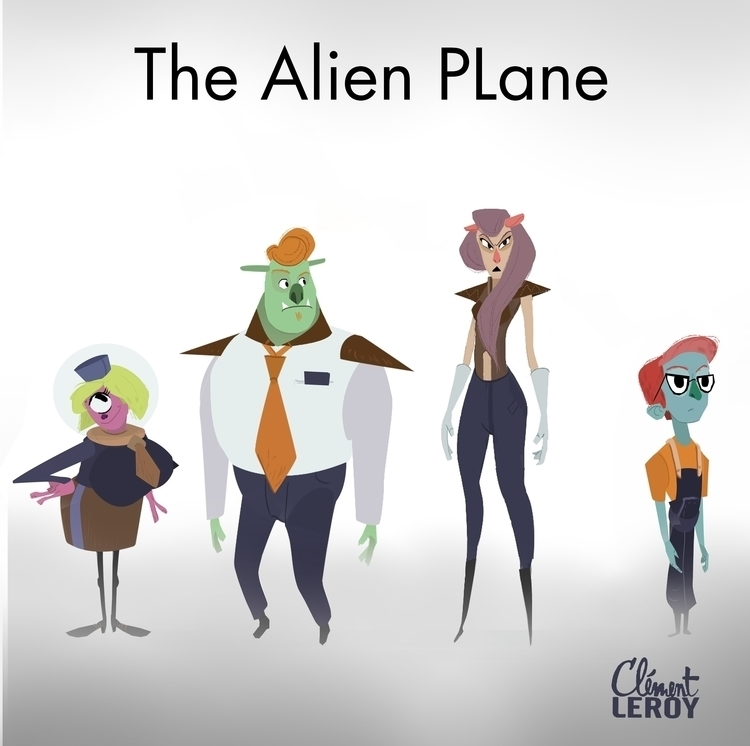 Alien Plane - alien, characterdesign - cleleroy | ello