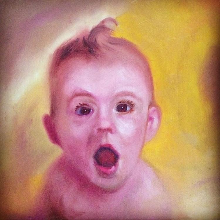 Bath Time Rubber Ducky - #oilpaint#baby#bathtime - charlesrichardson | ello