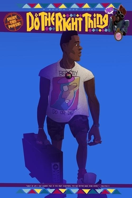 radio raheem - illustration, characterdesign - dedos-1276 | ello