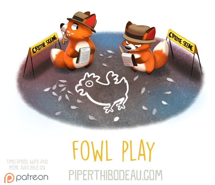 Daily Paint 1605. Fowl Play - piperthibodeau | ello