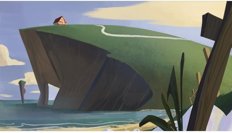 Cliff - cliff, house, visualdevelopment - cleleroy | ello