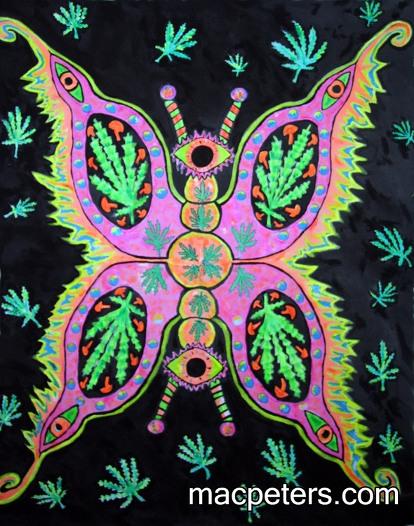 Potleaf Butterfly - blacklight, consciouslight - macpeters | ello
