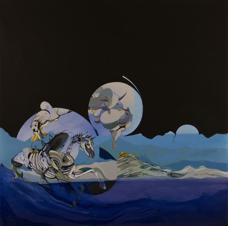 horse, 2013, acryl oil canvas,  - jakubreken | ello