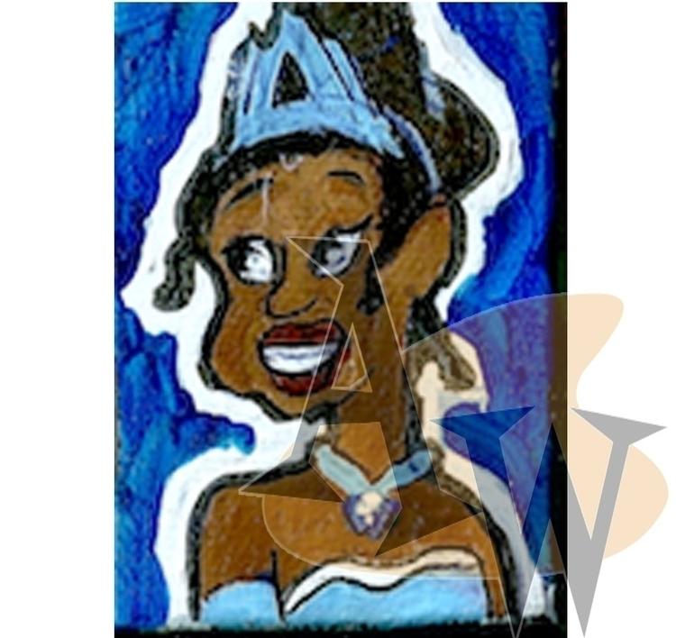 PrincessTiana, minicanvas, painting - ashleywilliams-1156 | ello