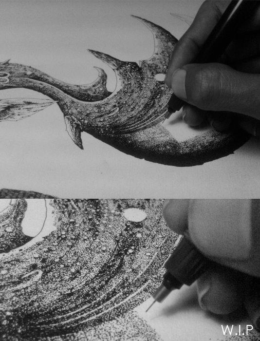 ink paper 2012 - #illustration, #ink - iannocent | ello