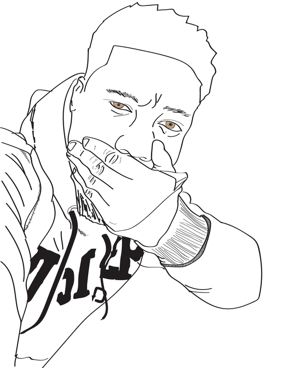 Selfie - illustration, characterdesign - rodericklaka | ello