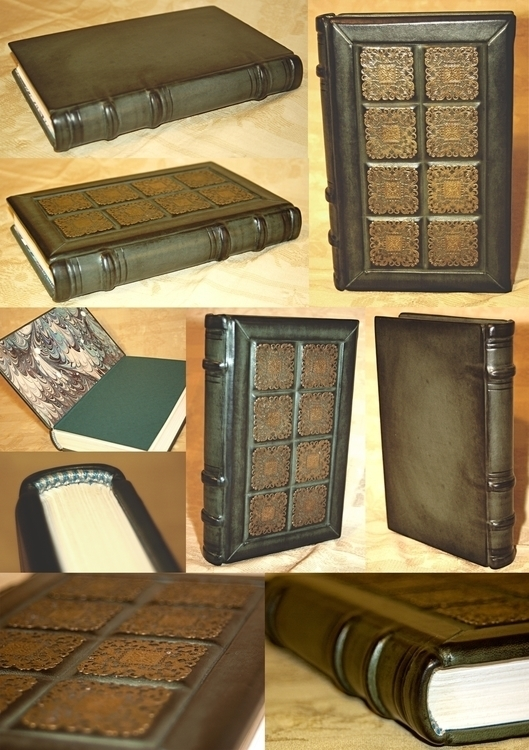 bookbinding, leatherjournal, leatherbook - bccreativity | ello