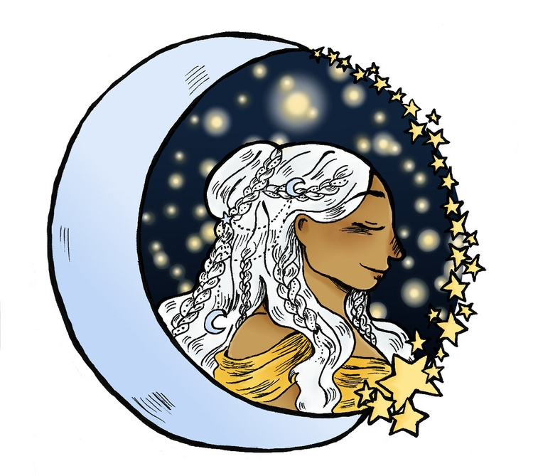 moon - illustration - norathebean | ello