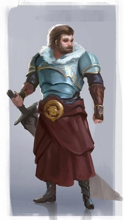 Knight - characterdesign, illustration - markpancham   ello