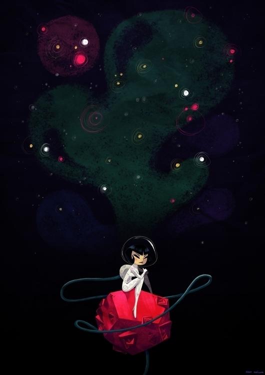 Dreaming Stars - illustration, characterdesign - hugocuellar | ello