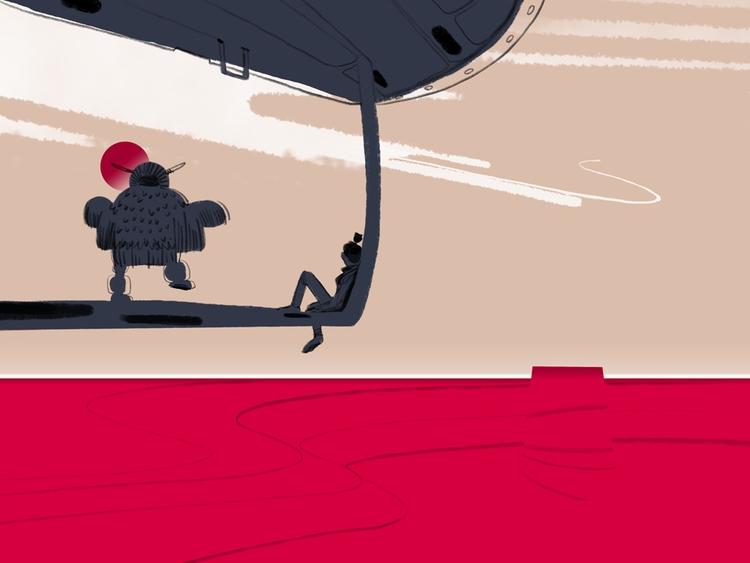strange ritual flying saucers - illustration - coffeeprotocol | ello