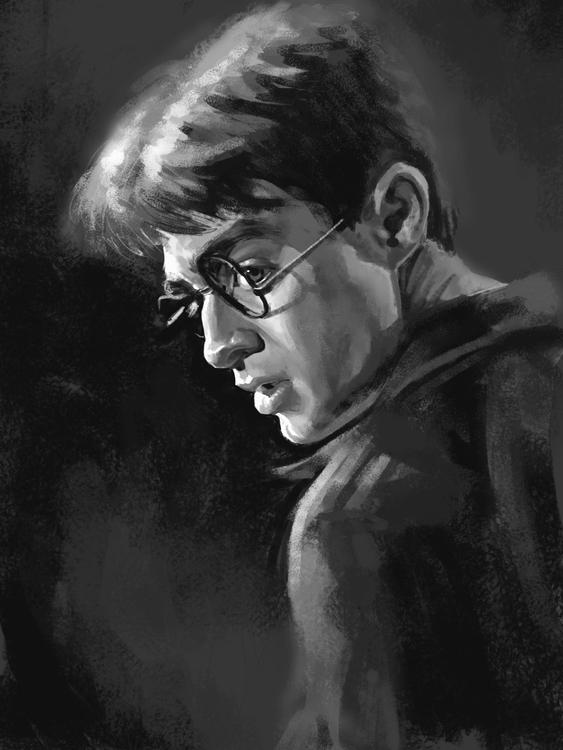 Harry Potter Portrait Tonal Stu - nightshadeberry | ello