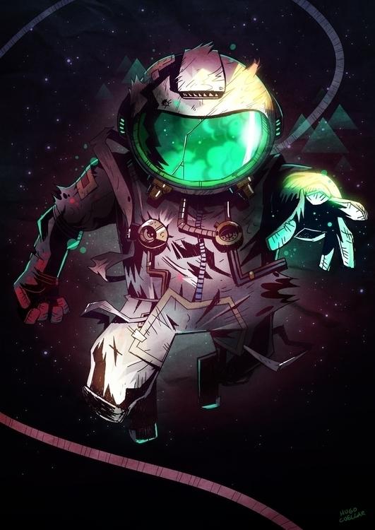COSMOS - illustration, characterdesign - hugocuellar | ello