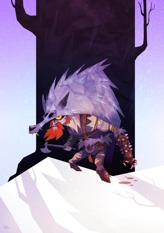 Berserker - illustration, characterdesign - hugocuellar | ello