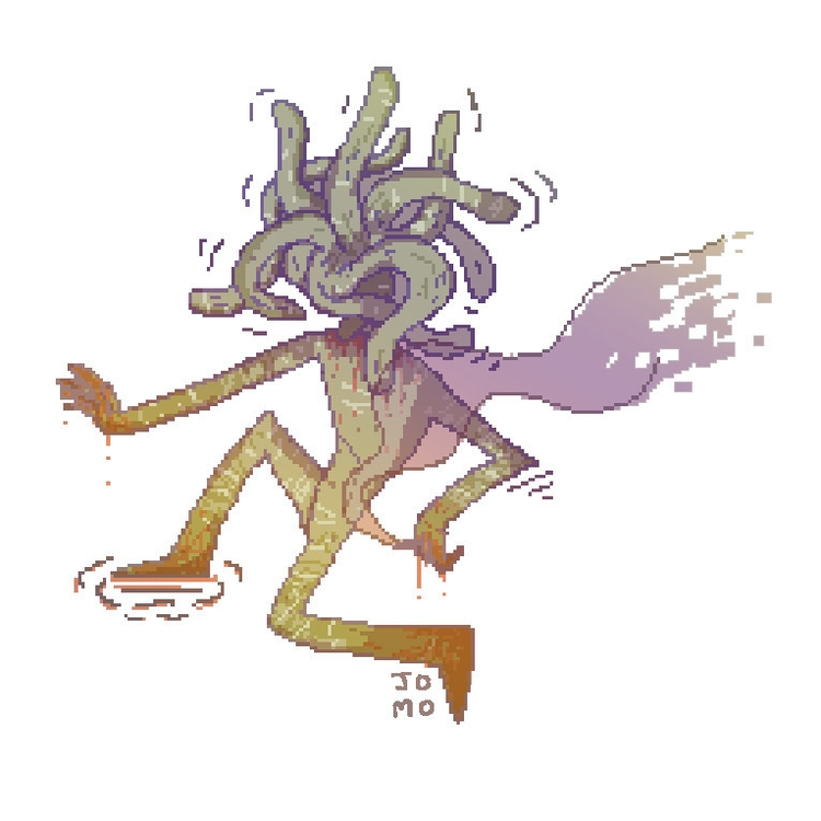 cool monster dude - illustration - jomo-8596 | ello