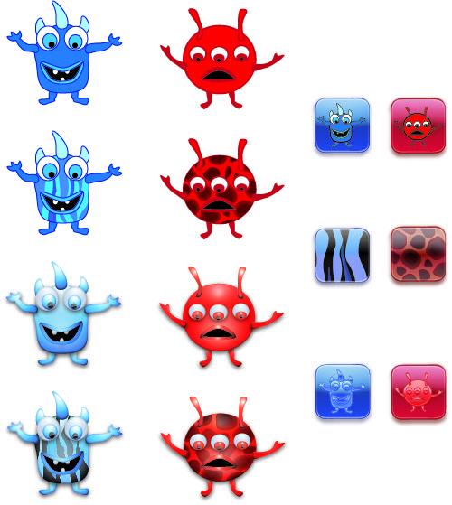 Monsters - illustration, characterdesign - rachelj-1394 | ello