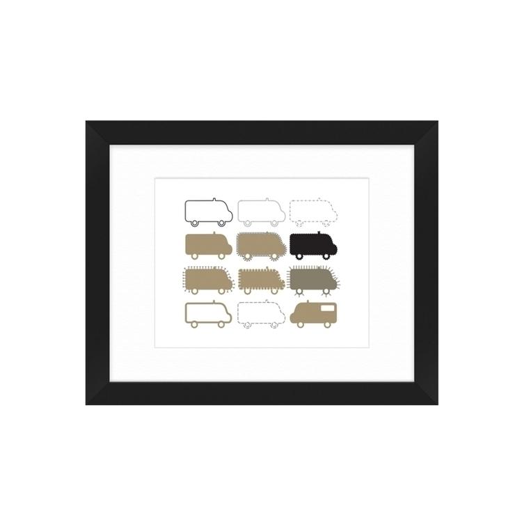 SOS vans framed art prints, cre - grabatdot | ello