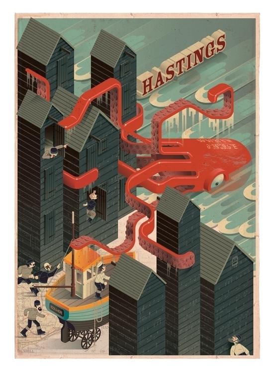 Hastings monster poster - olly-1031 | ello