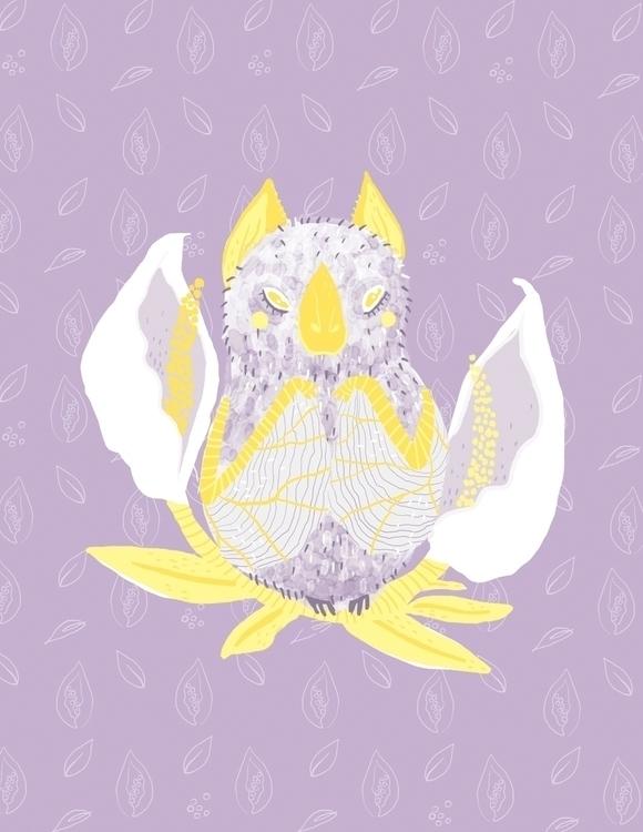 Murciélago hondureño - bat, floral - sonialazo   ello