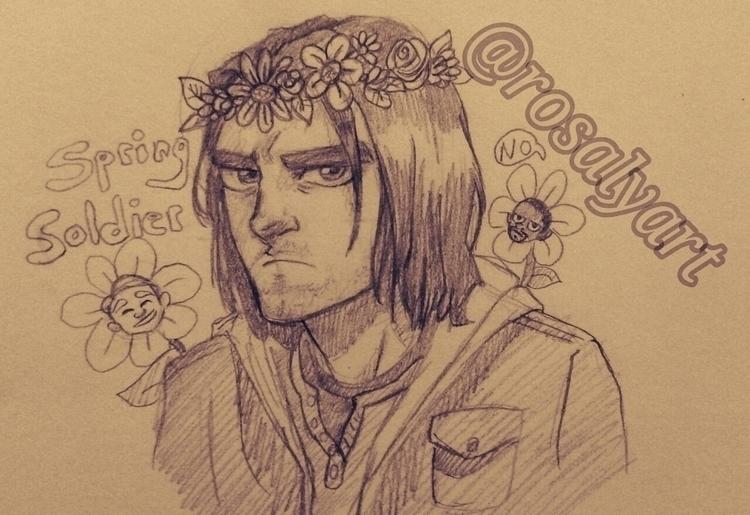 Spring Soldier - wintersoldier, marvel - rosalyart | ello