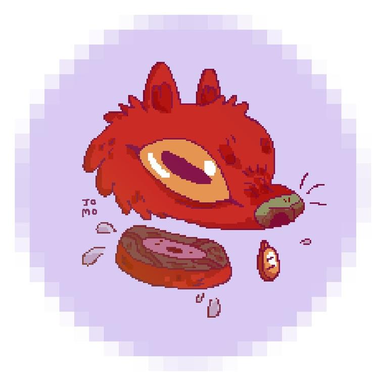 Angry Red Dog - illustration, animal - jomo-8596 | ello