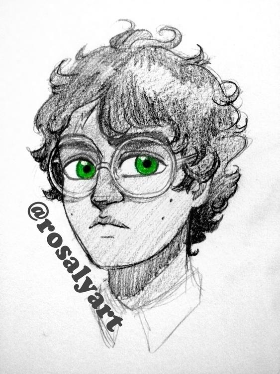 Harry Potter - illustration, sketch - rosalyart | ello
