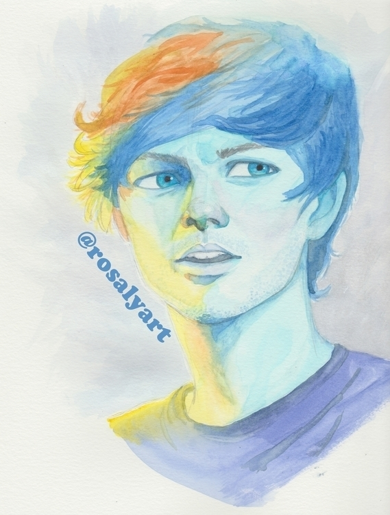 Louis Tomlinson watercolor - illustration - rosalyart | ello