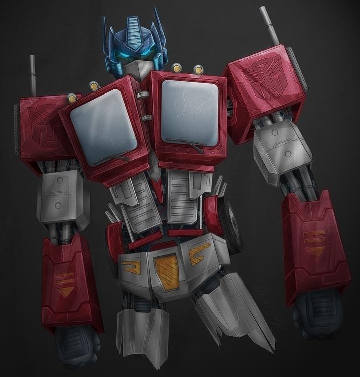 Optimus Prime - transformers, illustration - marciobatista | ello