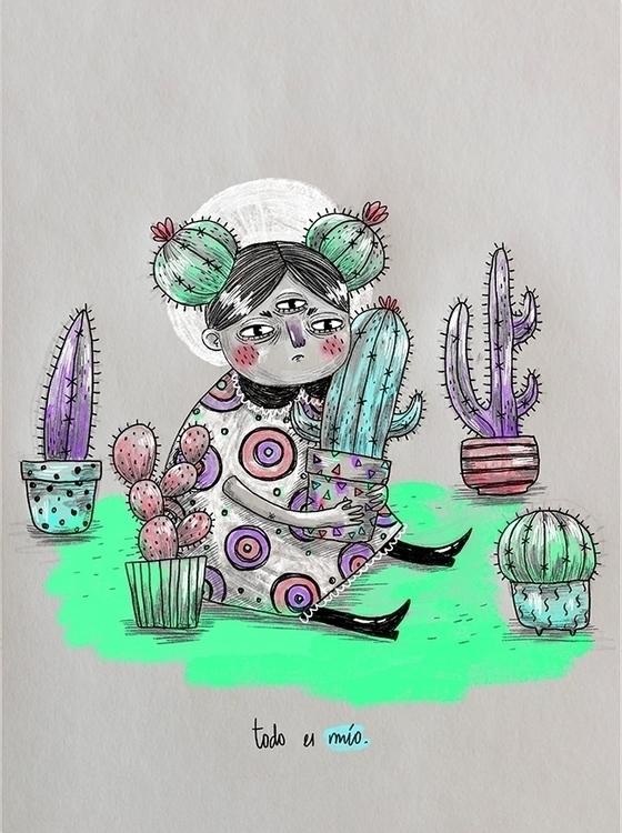 Niña Cactus - cactus, cacti, plants - sonialazo | ello