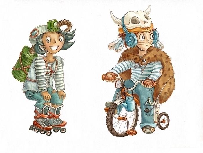 Cute fallout characters - girl, boy - dinkoobraz | ello