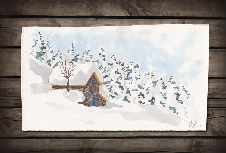 watercolor shows typical Alpine - ariautas | ello