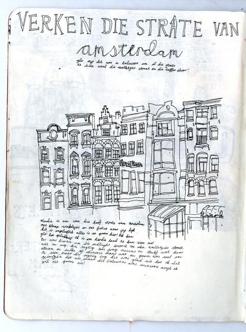 amsterdam - art, sketch, sketchbook - miekevdmerwe | ello